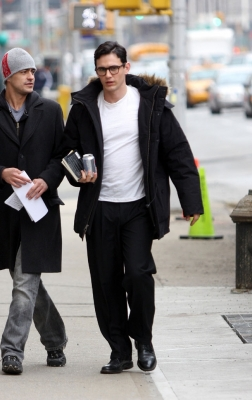 James Franco walking in New York