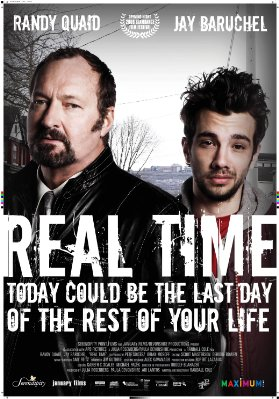 "Jay Baruchel and Randy Quaid in ""Real Time"""