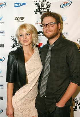 Seth Rogen and Anna Faris at South by Southwest